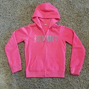 Old Navy Hot Pink Zip Up Hoodie